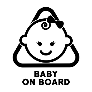 Naklejka BABY ON BOARD C028