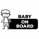 Naklejka BABY ON BOARD C032