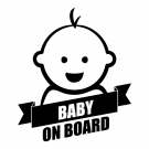 Naklejka BABY ON BOARD C040